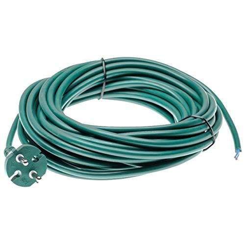 vhbw Stromkabel passend für Vorwerk Tiger 250, 251, 252, 260, 265, 270 Staubsauger + universal - 10m Kabel, Anschlusskabel