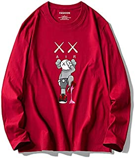 kaws x Sesame Street t-shirt men's trend loose cotton fall T-shirt joint long-sleeved men's clothing bottomshirt