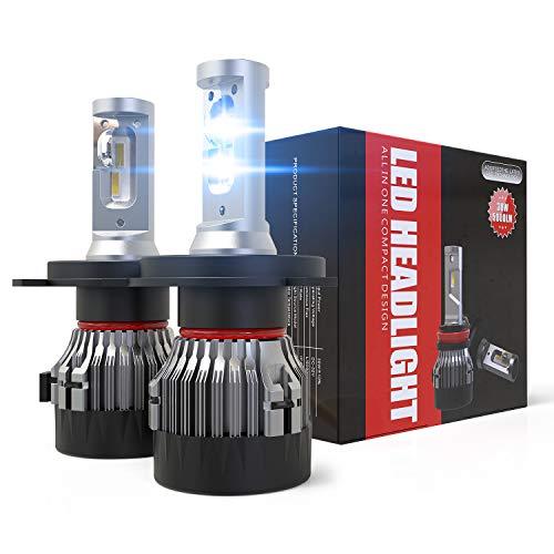 Wayrank H4 LED Lampadine faro per auto,10000LM,12V 6500K,2 lam