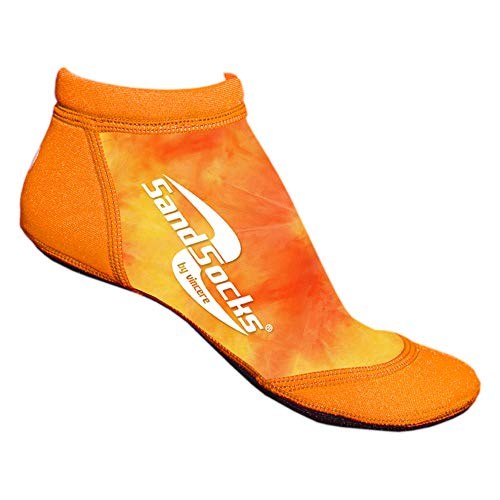 Vincere Sand Socken Low Cut Sprites Beach Volleyball Fußball Running Damen Herren, unisex, Orange sunset