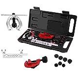 Autojack 10PC Metric Pipe Flaring Kit Brake Fuel Pipe Repair Flaring Tool Set Tube Cutter