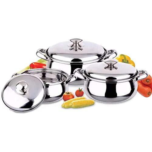 Canghai-Cacerolas Antiadherentes Juego de ollas de acero inoxidable Batería de Cocina, Acero...
