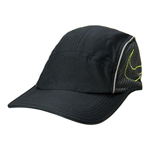 Nike U Nk Arobill Run Aw84 Gorra, Hombre, Negro (Black/Anthracite/Volt), Talla Única