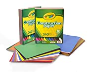 Bulk Construction Paper: 480 ct. Crayola Construction Paper, 48 pages each of the 10 colors. School supplies: This bulk set is ideal for school projects, arts and crafts in classrooms and craft rooms. Crayola colors: featured colors include pink, red...