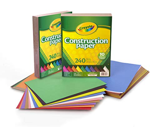 Pacon Lightweight Construction Paper 9Inch by 12Inch Assorted Colors 500 Count