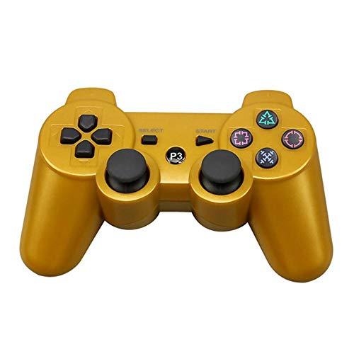 HDHL Mando Controlador inalámbrico de Gamepad Bluetooth paraPlaystation 3Joystick de Juego de Doble vibraciónConsolaPlay Station 3Gold
