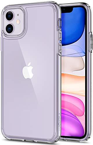 Spigen Ultra Hybrid Kompatibel mit iPhone 11 Hülle, Einteilige Transparent PC Rückschale Handyhülle für iPhone 11 Case Crystal Clear 076CS27185