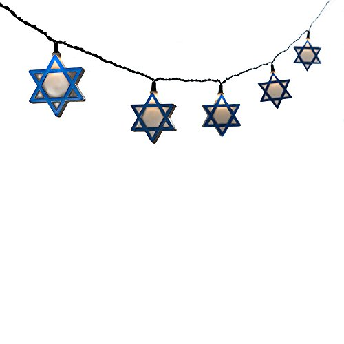 Kurt Adler UL 10-Light Hanukkah Star of David Light Set