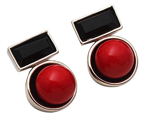 Black Temptation Haken baumeln Ohrringe geschmückt mit Shell Bead und Crystal