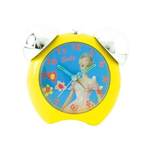 gelbe Uhr 2 Glocken Barbie gelbe Farbe