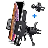 Car Phone Holder, Baseus Air Vent Cell Phone Car Mount Quick Release 360° Rotation iPhone X, 8/8 Plus, 7/7 Plus, 6/6 Plus, Samsung Galaxy S9, S8, S7, S6, S5
