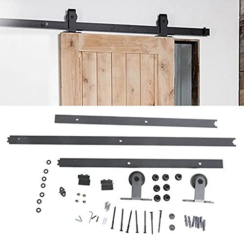 Riel de riel para puerta corrediza, fácil instalación Juego de puerta de granero con gran capacidad de carga para cuartos de lavado de almacenes