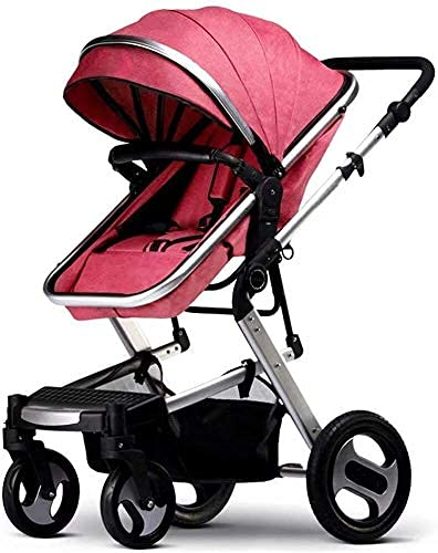 Baby passeggino portatile passeggino passeggino ad alta vista baby pram mini pieghevole passeggino da passeggio per bambini 2 in 1 leggero fino a 15 kg hot mom baby viaggio sistema di viaggio rosso 1