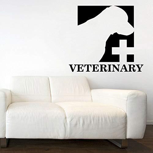 HGFDHG Letrero Logo calcomanías de Pared clínica Veterinaria Tienda de Mascotas decoración de Interiores Cuidado de Mascotas Puertas y Ventanas Pegatinas de Vinilo Papel Tapiz Creativo
