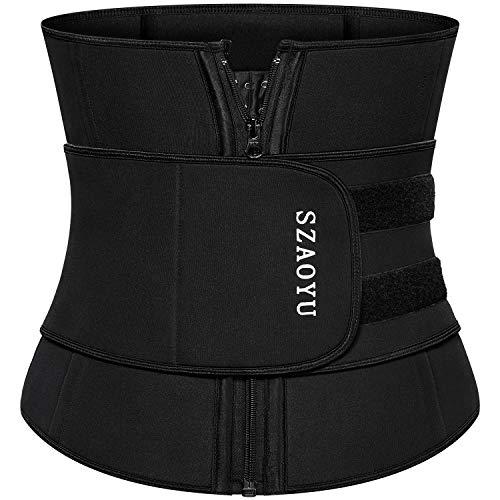 SZAOYU Neoprene Sauna Belt Sweat Waist Trainer Corset Trimmer Belt for Women Weight Loss, Waist Cincher Shaper Slimmer