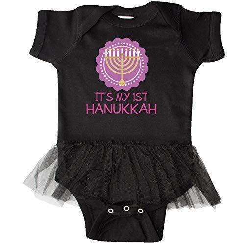 inktastic My 1st Hanukkah Festival Girls Infant Tutu Bodysuit 6 Months Black
