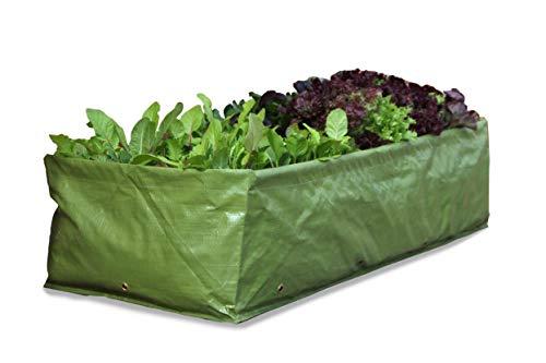 Haxnicks Pot de Fleurs Sac de Plantation Multi-Usage ré-utilisable 42x25x100 cm Green