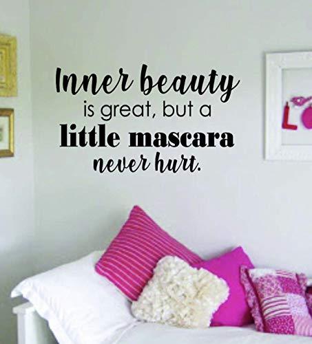 DKISEE muursticker binnen schoonheid mascara citaat mooi ontwerp sticker muur Vinyl Decor kunst wenkbrauwen wimpers wimpers cosmetica schoonheidssalon MUA multi-size en multi-color 50