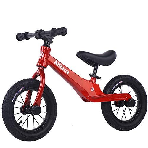 HFRTKLSAW Bicicletta Senza Pedali 2-6 Anni per Bambino,Telaio in Lega di Magnesio + Pneumatici in Gomma,Bici Senza Pedali in Legno