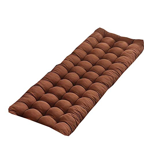 Cojín de banco grueso para asiento, de metal o madera, rectangular, cojín de banco para columpio, sofá, tumbona, silla, cojín para interior y exterior, 160 x 55 cm