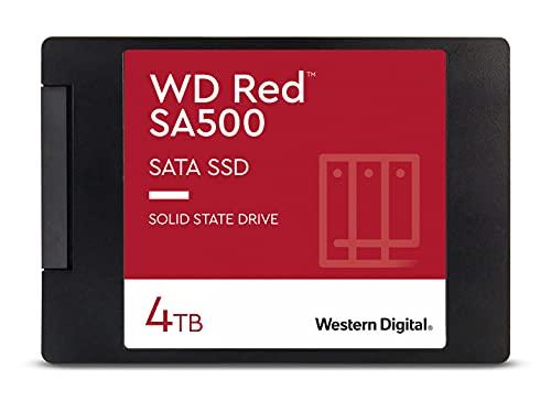 "Western Digital 4TB WD Red SA500 NAS 3D NAND Internal SSD - SATA III 6 Gb/s, 2.5""/7mm, Up to 560 MB/s - WDS400T1R0A"