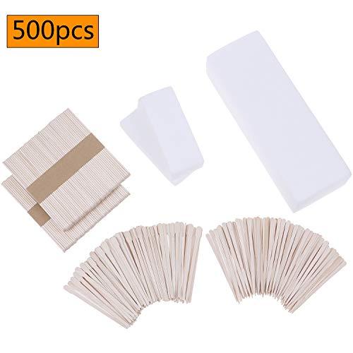 500 Pieces Wax Strips Sticks Kit Non-woven Waxing Strips Wax Applicator Sticks Hair Removal Stripfor Facial Body Skin Hair Removal