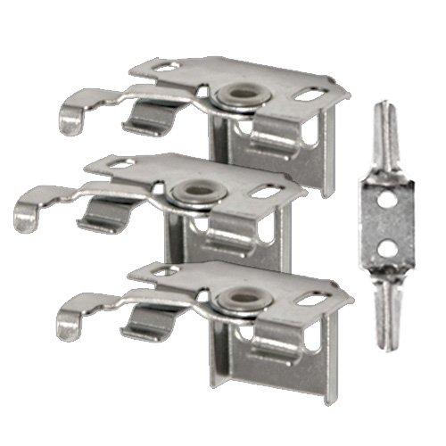 Victoria M. Juego Soportes de Repuesto para persiana de Aluminio (3 Soportes universales con Bloqueo de Seguridad para niños)