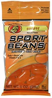 Jelly Belly - Frijoles Deporte Energizante Jelly Beans Orange - 1 oz