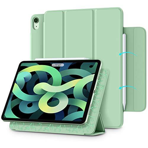 Vobafe Magnetische Hülle Kompatibel mit iPad Air 4.Generation 10.9 Zoll 2020/iPad Pro 11 2018, Trifold Hülle Magnet Schutzhülle Unterstützt 2. Gen iPencil Aufladen, Auto Schlafen/Wachen-Matcha Grün