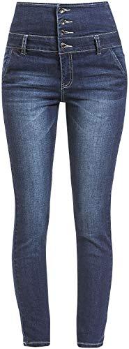 Forplay High Waist Denim Jeans Frauen Jeans dunkelblau W32L34