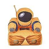 Cushion I Bambini Poltrona di Nylon della Copertura del Panno di Particelle EPS Riempito Tema Astronaut Arancione Sedia Poltrona Camera Area Giochi per Bambini