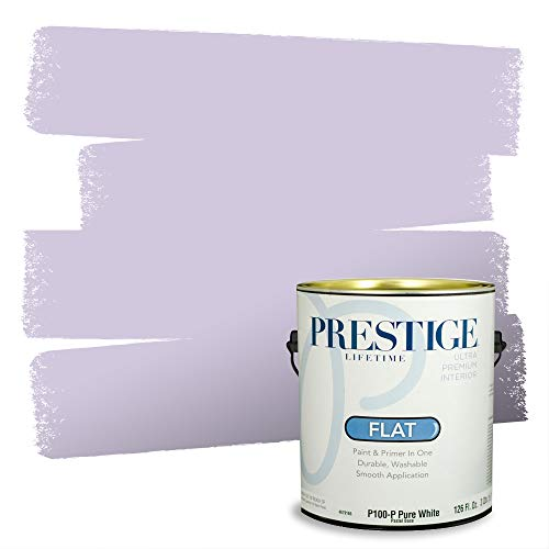 Prestige Paints Interior Paint and Primer In One, 1-Gallon, Flat, Comparable Match of Sherwin Williams* Rhapsody Lilac*