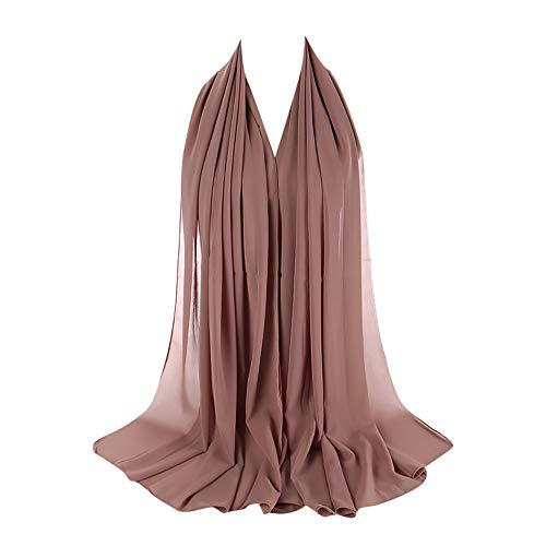 Amphia Damen Viskose Hijabs Schals Schöne Hijab Caps Schal Muslimischen Kopftuch Damen Schal - Plain Bubble Chiffon Schal Hijab Wrap Printe Schals Stirnband Muslim Hijabs