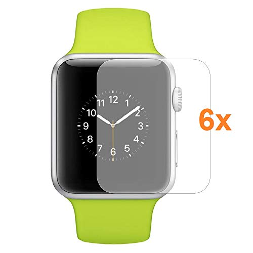 Protector de Pantalla para Apple Watch Series 1 - Series 2 - Series 3 42mm, Reloj SmartWatch, (Pack 6X)