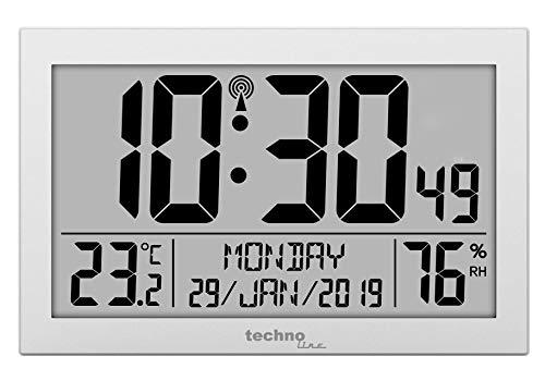 Technoline WS8016 WS 8016 - Orologio da Parete radiocontrollato con indicatore della...
