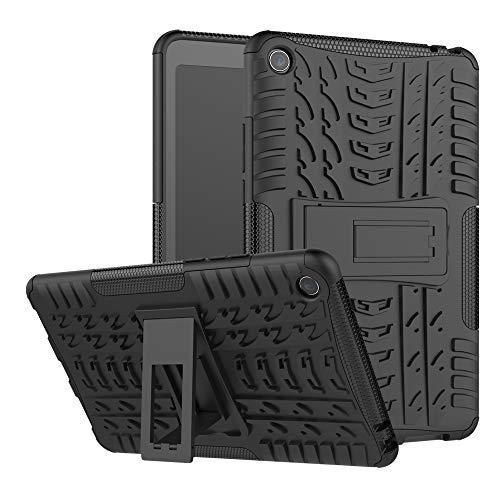 TenYll Xiaomi Mi Pad 4 Cover, [Staffa] Custodia in Silicone Misto a Doppio Strato Resistente Copertura Antiurto per Xiaomi Mi Pad 4 -Nero