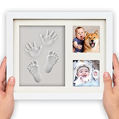 Baby Hand & Footprint Keepsake Gifts, BoxRice Baby Footprint Handprint Impression Photo Frame Clay kit, Newborn Boy Girl Baby Shower Gift for Mom | Dog Cat Paw Print Memorial Impression Keepsake Kit