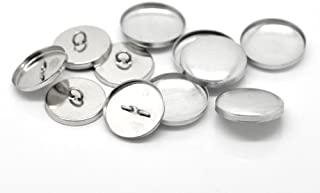 24mmアルミくるみボタン素材・大量約200個・押し具なし