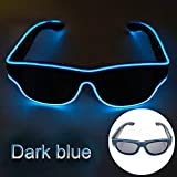 Glaray Kabellos LED Leuchtend Brille USB Wiederaufladbar LED Light Up Brillen Rave Party Leuchtende...