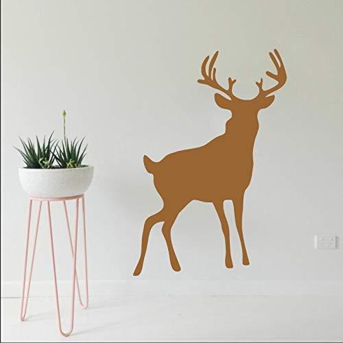Tianpengyuanshuai Standing Deer Wandaufkleber Selbstklebendes Wandbild Home Living Room Decoration Wasserdichtes Wandbild 42X51cm