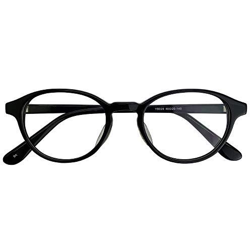 SHOWA 遠近両用メガネ ボストン (ブラック) (メンズセット) 全額返金保証 境目のない 遠近両用 眼鏡 老眼鏡 おしゃれ メンズ 男性 リーディンググラス (瞳孔間距離:66mm〜68mm, 近くを見る度数:+1.5)