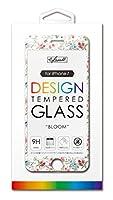 Kazall プリント柄付き保護ガラスフィルム/BLOOM for iPhone8/7 KZ-OLG-0017