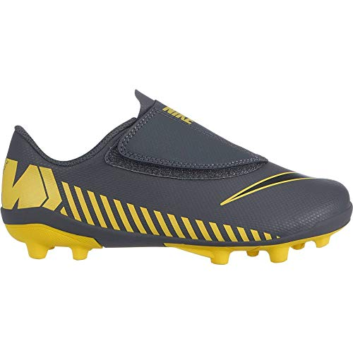 Nike Unisex-Kinder Vapor 12 Club Ps (V) MG Fußballschuhe, Grau (Dark Grey/Black-Opti Yellow 070), 29 EU
