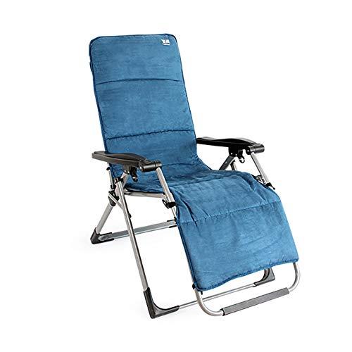 Liegestühle Sun Loungers Recliners Faltbare Gepolstert, Kompakter Tragbarer Strandpool Zero Gravity Lounge Chair, Unterstützung 440lbs Blau