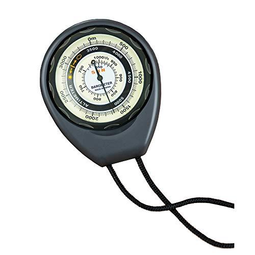 Sun Company Höhenmesser 203-M - Batteriefreier Höhenmesser und Barometer | Wettertrendanzeige mit robustem ABS-Gehäuse und Lanyard | Liest die Höhe von 0 bis 5.000 Metern