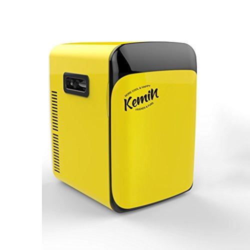 Sunjun Mini Kühlschrank 10L Einkernige Mute Reefer Kühler Box (Home Office und Auto verwenden) (Farbe : Gelb)