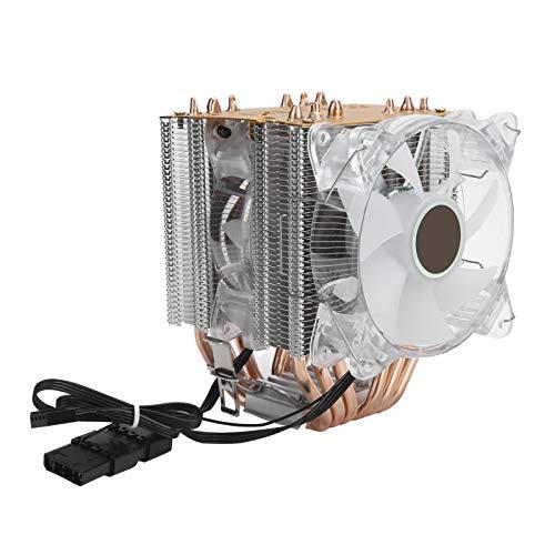 EBTOOLS1 Enfriador de CPU, Enfriador de computadora de 4 Pines, disipador de Calor de Ventilador de CPU, Ventilador de procesador de 6 heatpipes, Accesorios de computadora