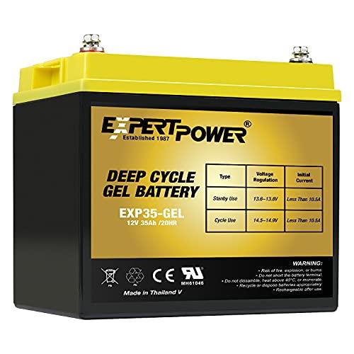 ExpertPower 12V 35AH Gel Battery for Pride Mobility BATLIQ1001 AGM U1