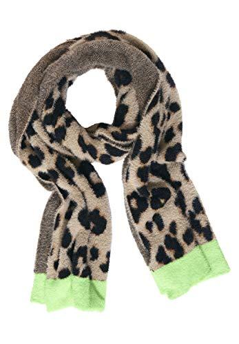 Street One Damen Plüsch-Schal mit Leo savannah sand A