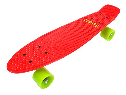 Skate Mini Cruiser D-Street Poly Prop Red-Green 22-inch